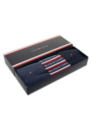 TH MEN SOCK 3P LOGO GIFTBOX